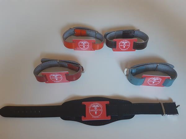 URGENT ID náramek - barexový pásek all